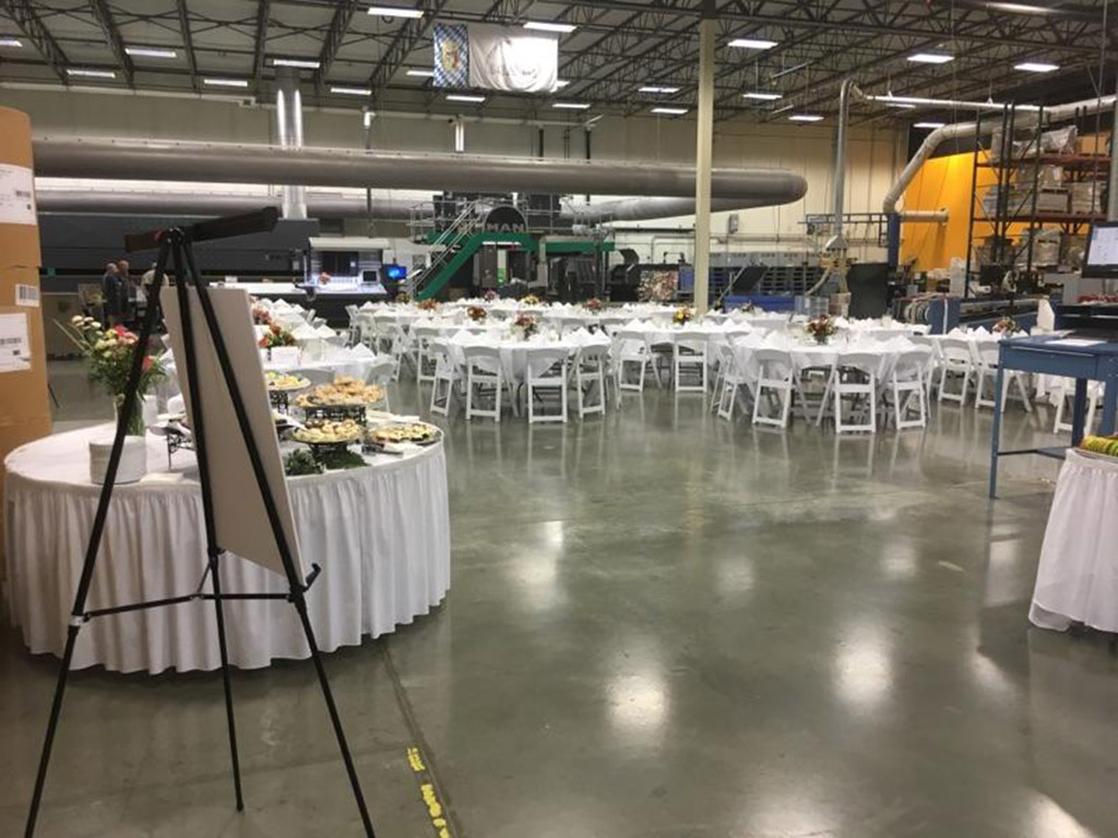 Corporate Catering Room Set Up
